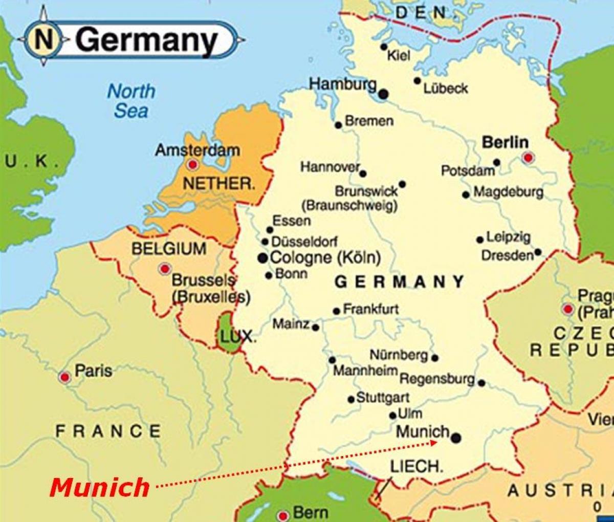 Rust Germania Cartina